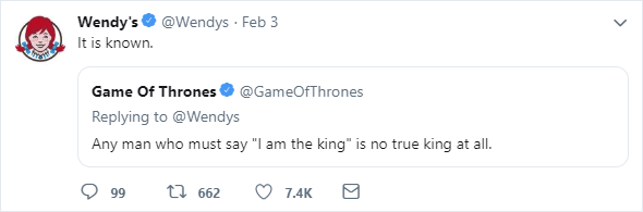 Wendy's Burger King Tweet